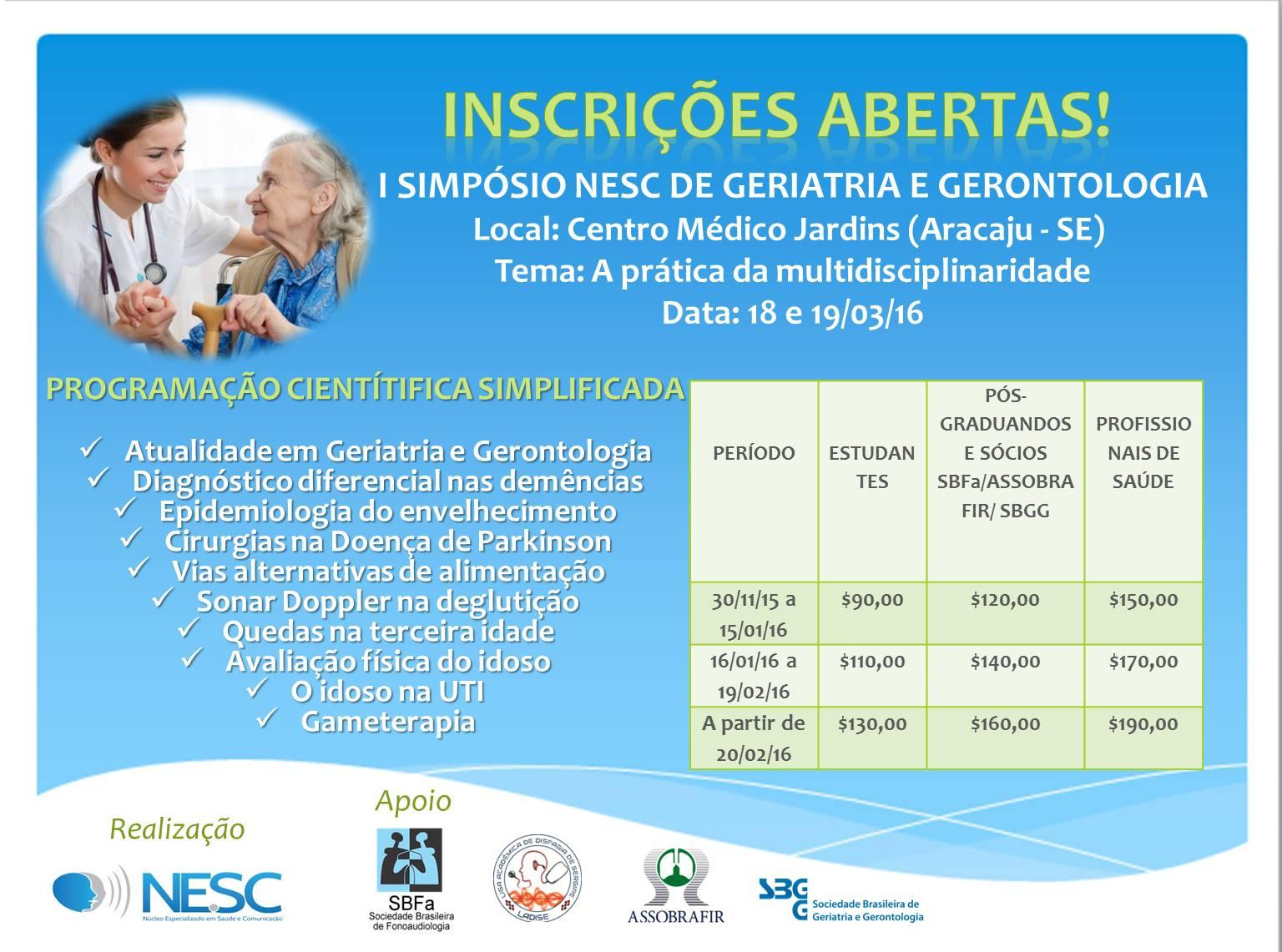 I Simpósio NESC de Geriatria e Gerontologia