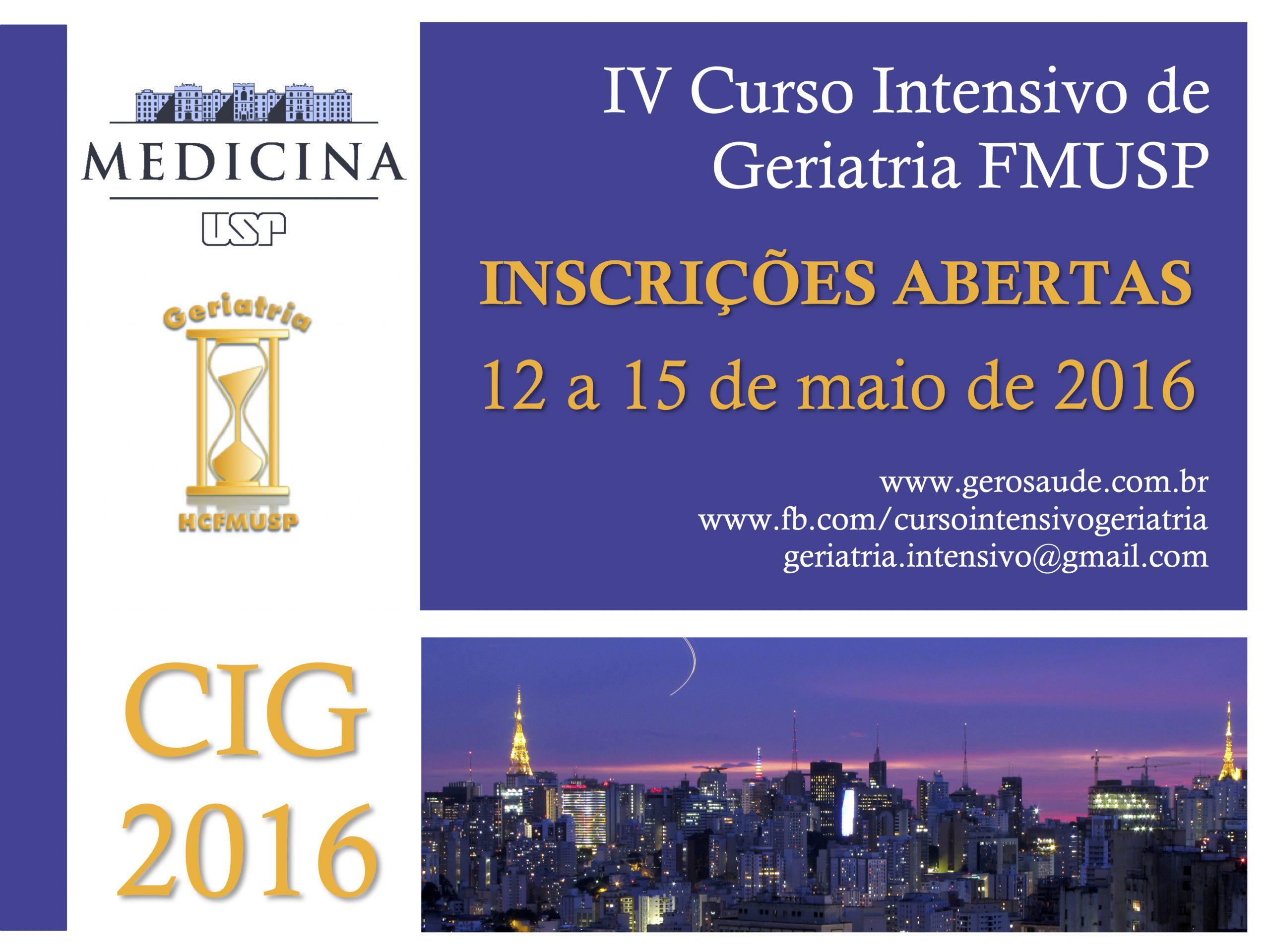 IV Curso Intensivo de Geriatria FMUSP