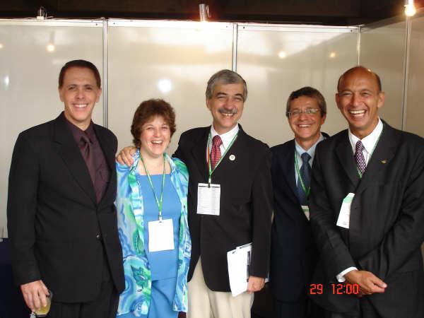 Dra. Claudia Burla, Dr Renato Maia Guimarães, Dr Jose Elias Soares Pinheiro e Dr Alexandre Kalache e Prof. Ulisses.