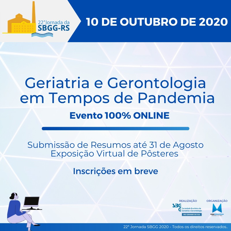 Geriatria e Geronologia em Tempos de Pandemia  Evento 100% ONLINE