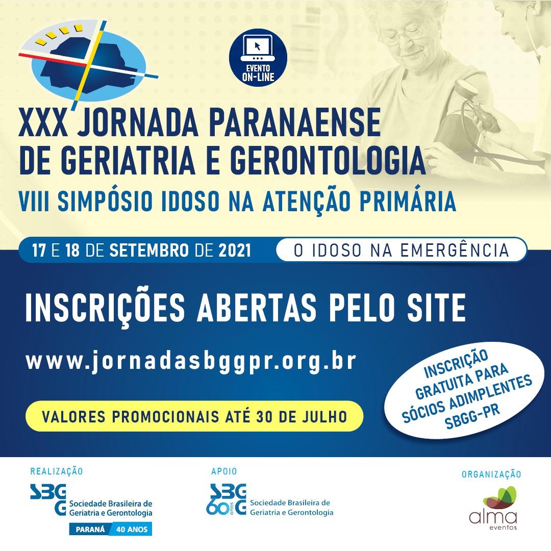 XXX JORNADA PARANAENSE DE GERIATRIA E GERONTOLOGIA