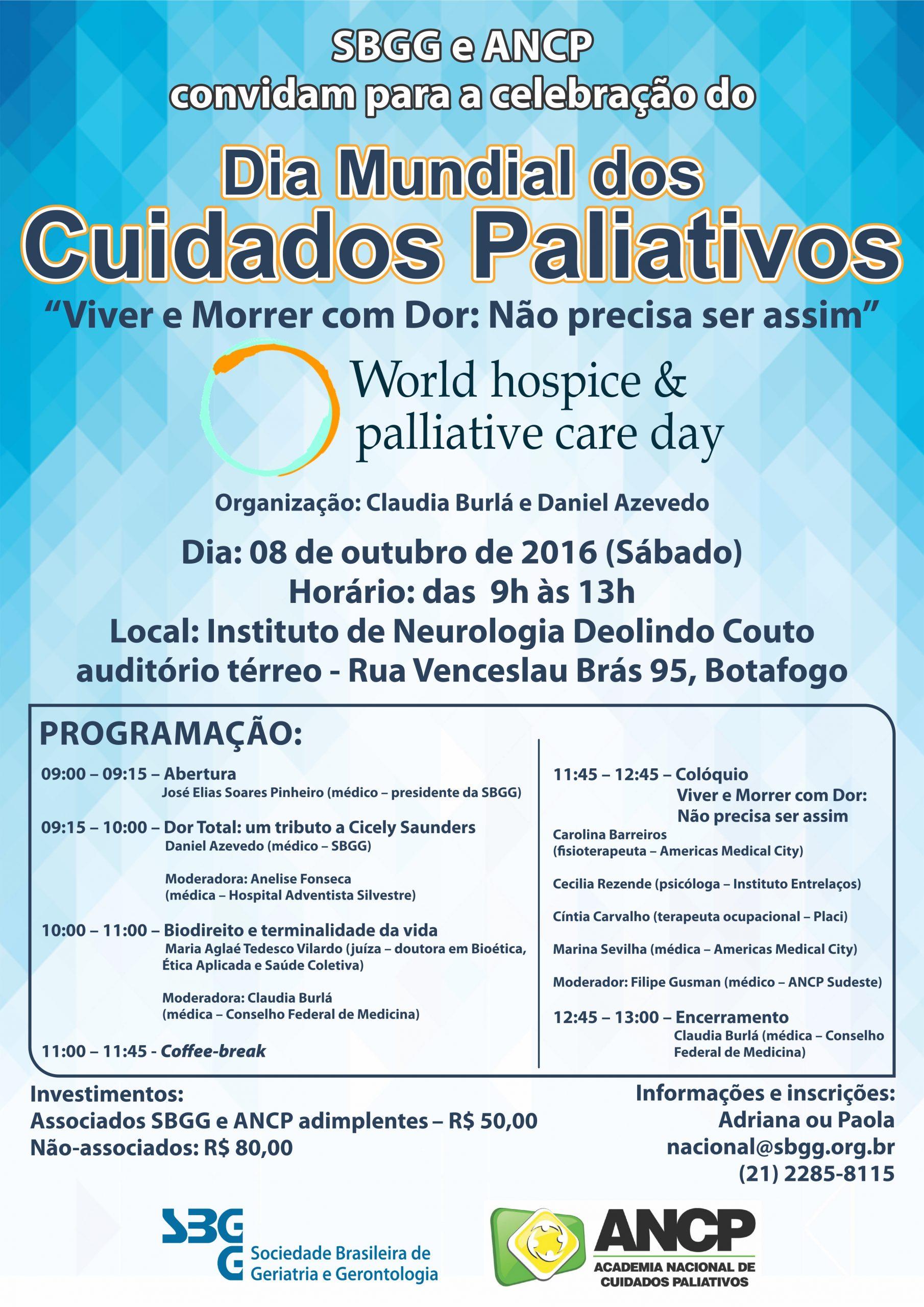 Dia Mundial dos Cuidados Paliativos