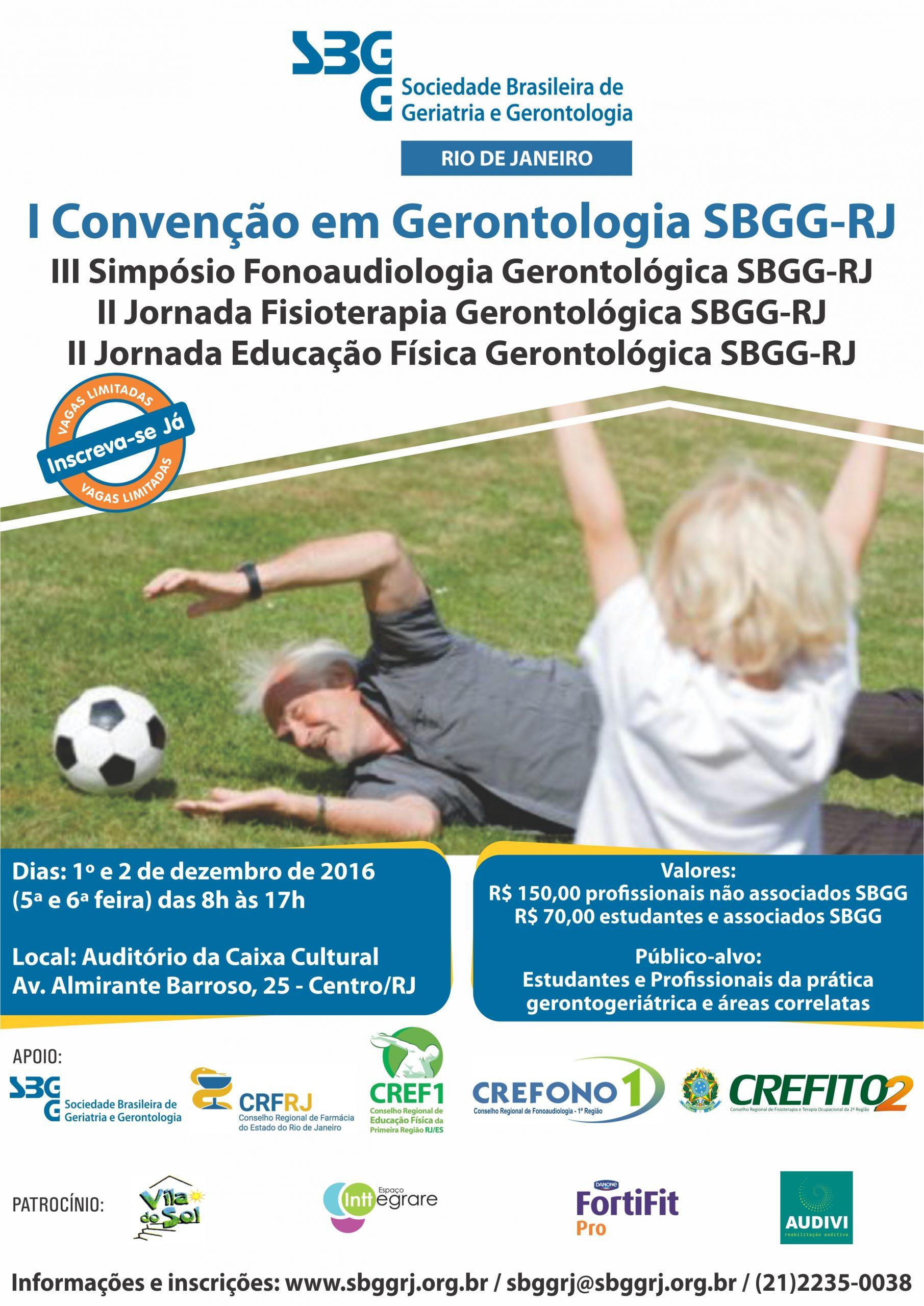 I Convenção em Gerontologia SBGG-RJ