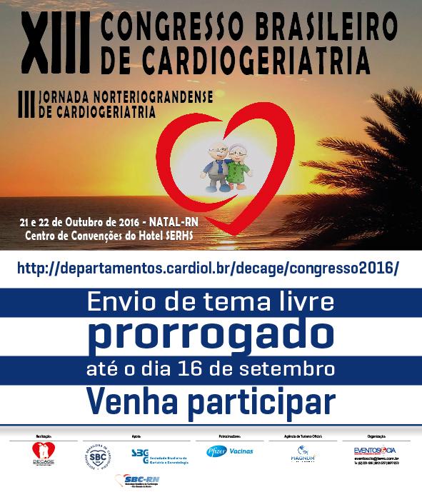 XIII Congresso Brasileiro de Cardiogeriatria