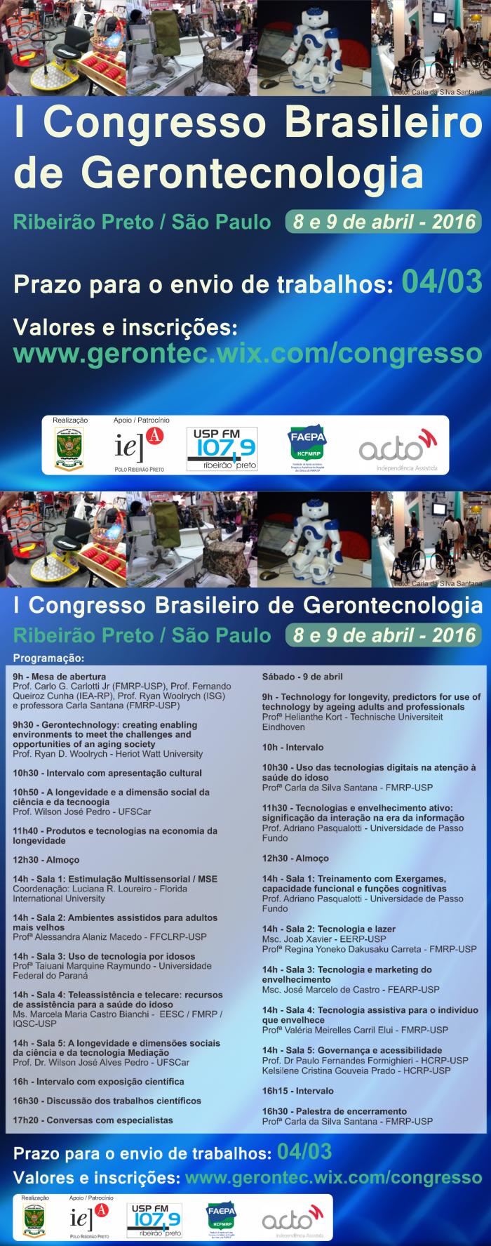 I Congresso Brasileiro de Gerontecnologia