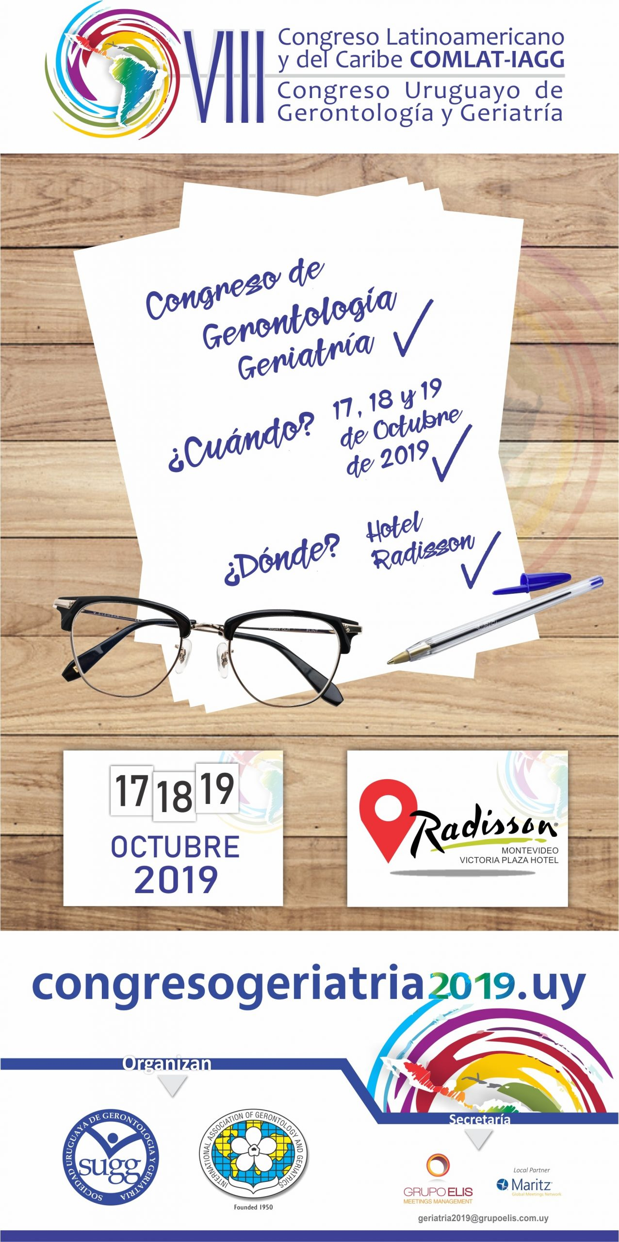 VIII Congresso Latinoamericano y del Caribe – COMLAT – IAGG 2019 | VIII Congresso Uruguayo de Gerontología y Geriatría